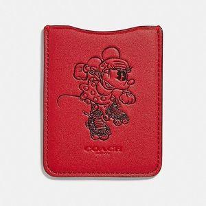 NWT Coach x Minnie Mouse phone pocket sticker